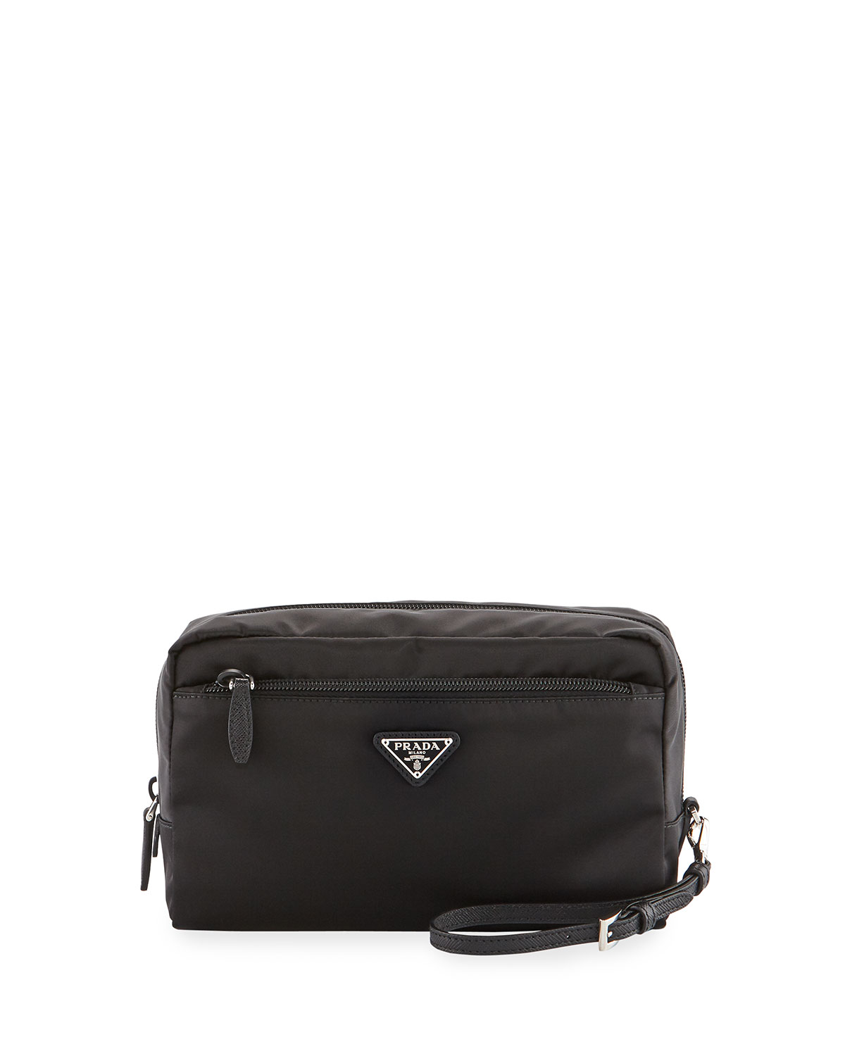 b2ad43a54039 Prada XLG Front-Zip Cosmetics Pouch