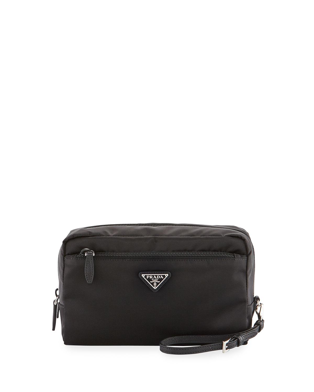2dc55f2d8798 Prada XLG Front-Zip Cosmetics Pouch | Neiman Marcus