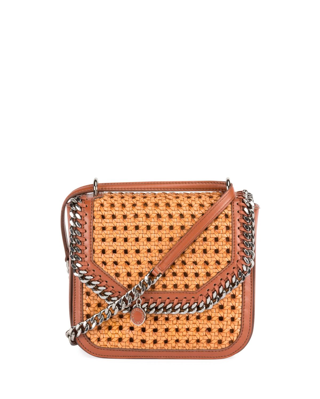 79921e7853 Stella McCartney Falabella Medium Box Wicker Satchel Bag