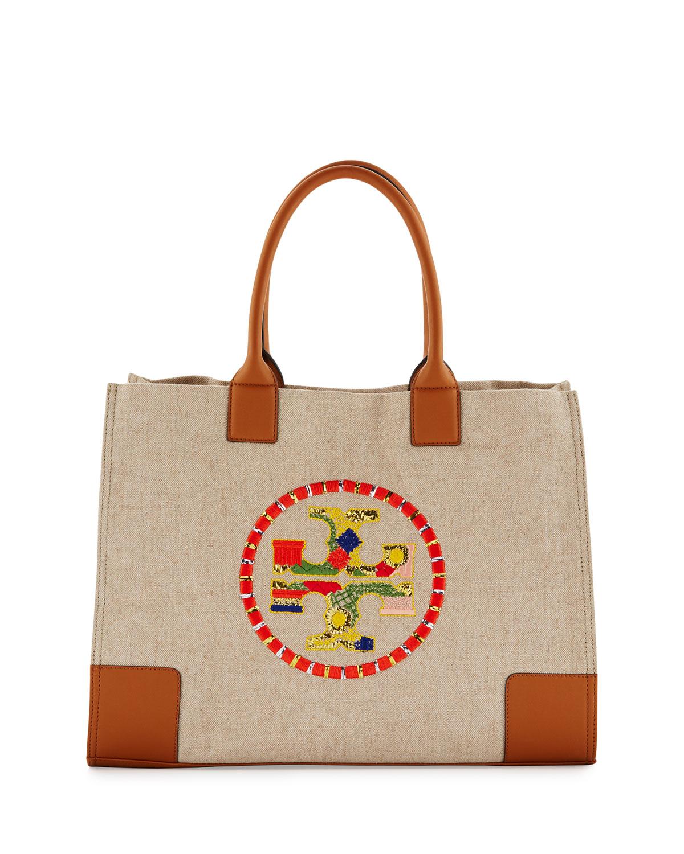 e8230febc7e Tory Burch Ella Embroidered Nylon Tote Bag