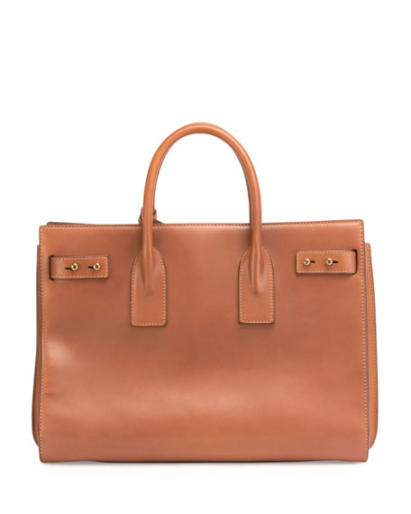 Sac de Jour Medium Supple Leather Bag, Cognac