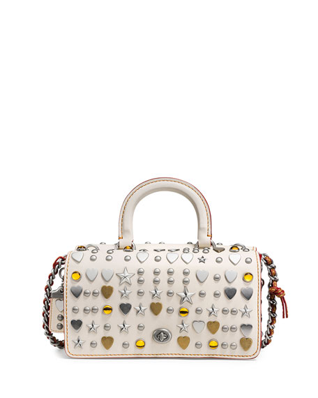 Coach 1941 Dinky Double Studded Top-Handle Shoulder Bag,