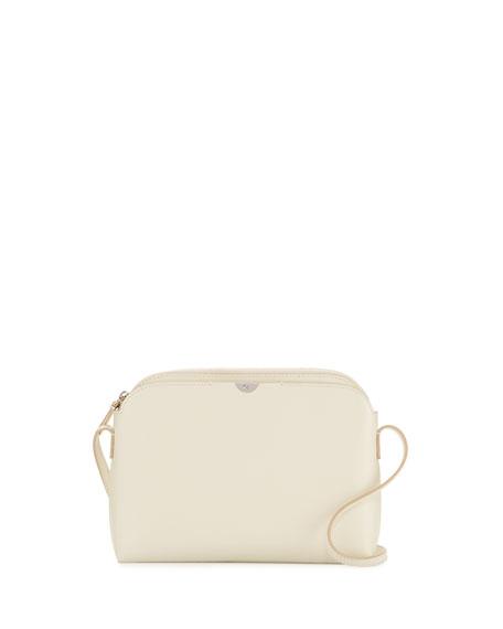 Multi-Pouch Calfskin Crossbody Bag, Pearl