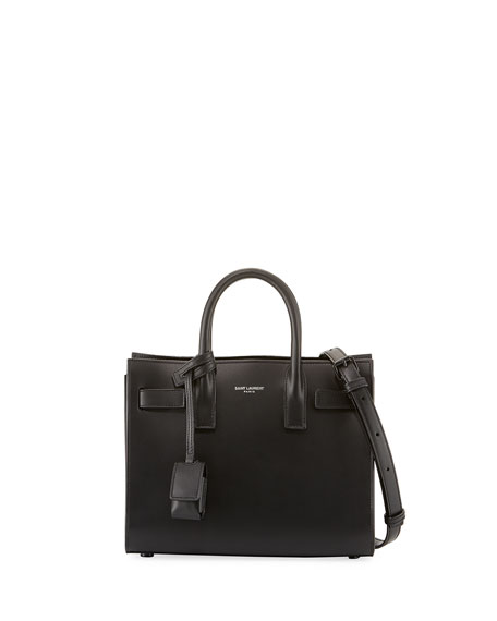 Sac De Jour Nano Bonded Calf Tote Bag, Black
