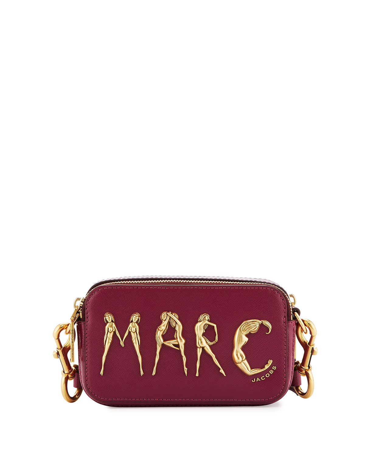 86ad7889708a Marc Jacobs Snapshot Flashed Leather Camera Bag