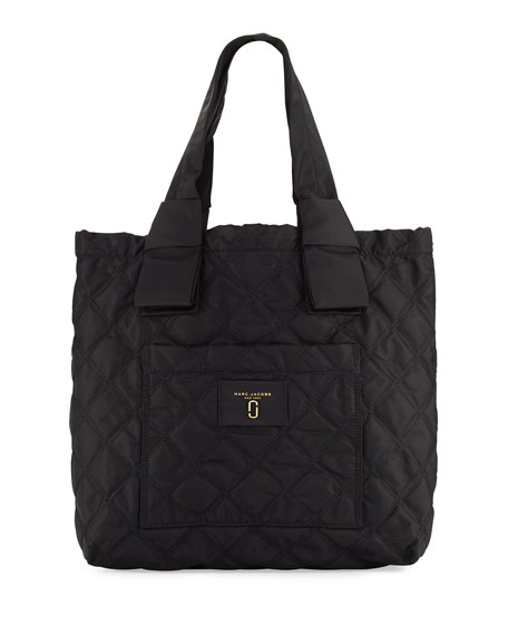 Marc Jacobs Quilted Nylon Knot Tote Bag Black Neiman Marcus