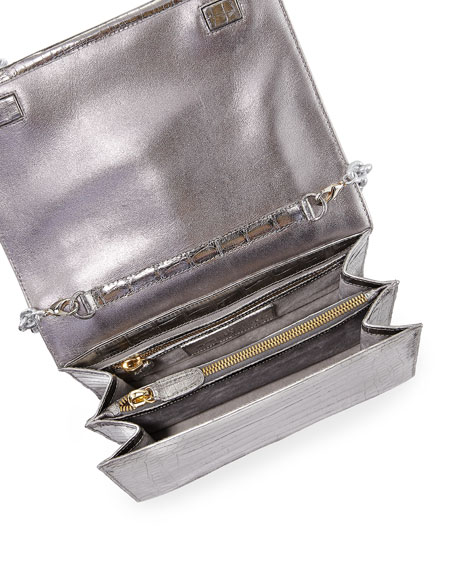 Small Tassel Crocodile Crossbody Bag