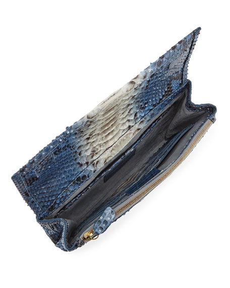 Image 2 of 3: Nancy Gonzalez Gotham Python Clutch Bag
