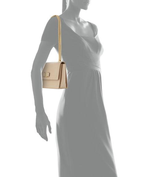 Salvatore Ferragamo Ginny Vara Medium Flap Bag, Beige