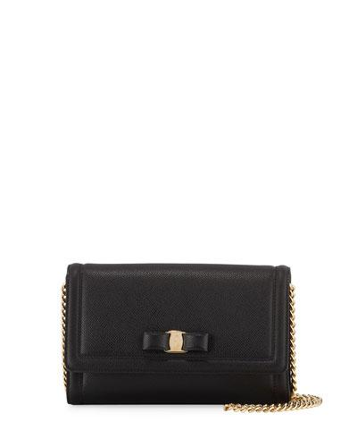 Vara Mini Saffiano Crossbody Bag  Black