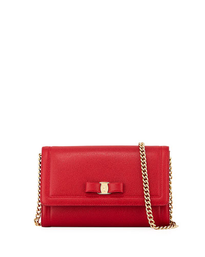 Miss Vara Mini Crossbody Clutch Bag  Red