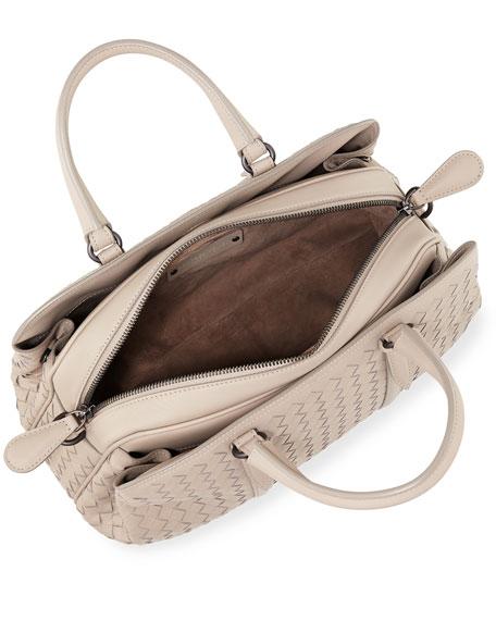 Medium East-West Intrecciato Leather Handle Bag