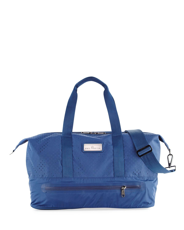adidas by Stella McCartney Laser-Cut Mesh Modern Gym Bag   Neiman Marcus f071e64b69