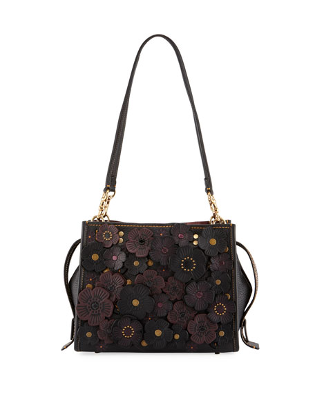 Rogue 25 Tea Rose Tote Bag, Black