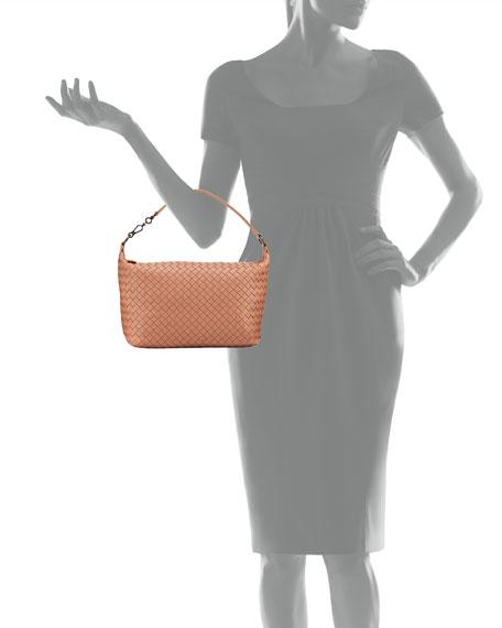 Small East-West Zip Hobo Bag