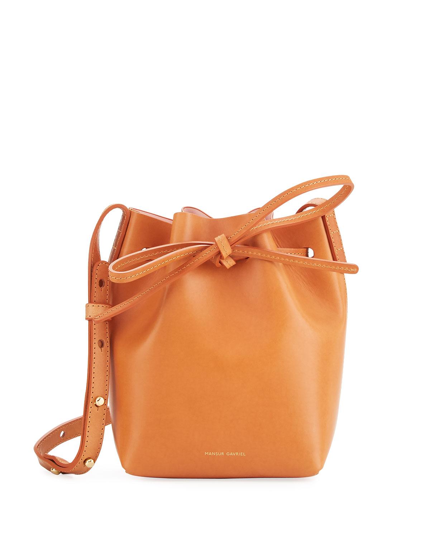 Mansur Gavriel Vegetable-Tanned Leather Mini Mini Bucket Bag ...