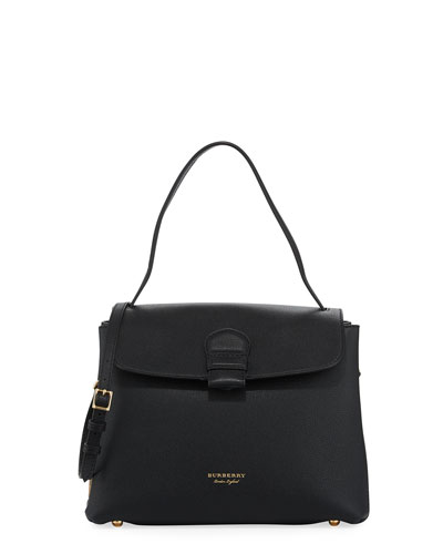 Burberry Camberley Medium Leather Tote Bag, Black