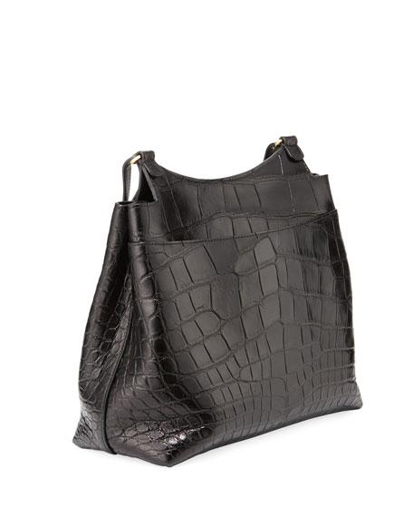 THE ROW Sideby Alligator Satchel Bag