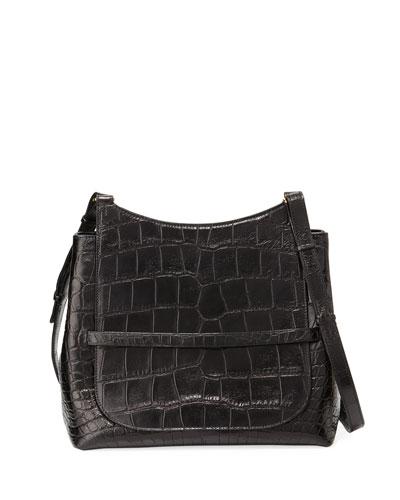 Sideby Alligator Satchel Bag