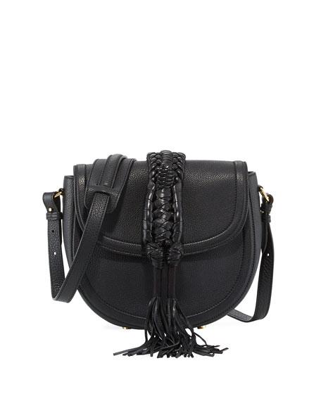 Ghianda Small Knot Saddle Bag, Black