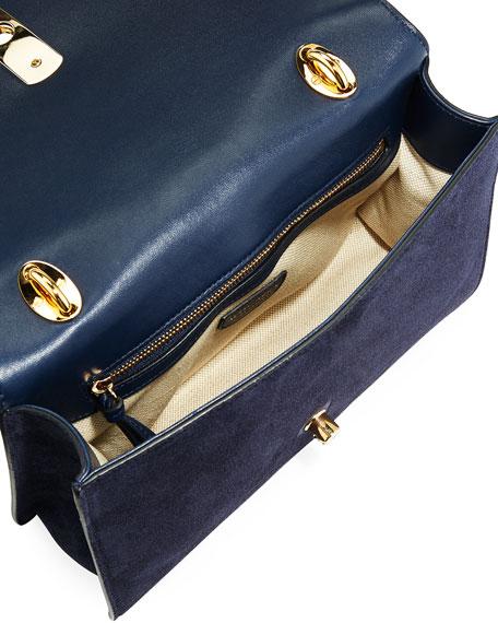 Ghianda Braided Chain Shoulder Bag, Blue