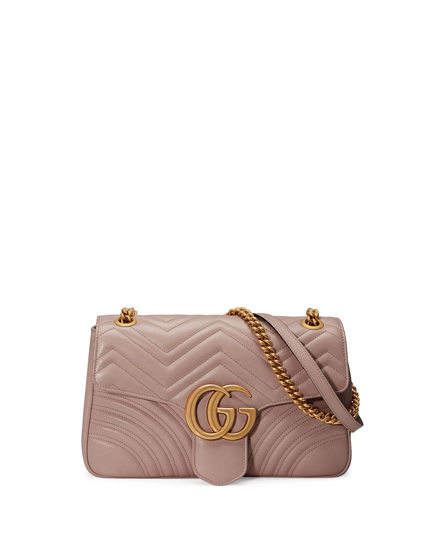 f9c4fca579be Gucci GG Marmont Medium Leather Shoulder Bag