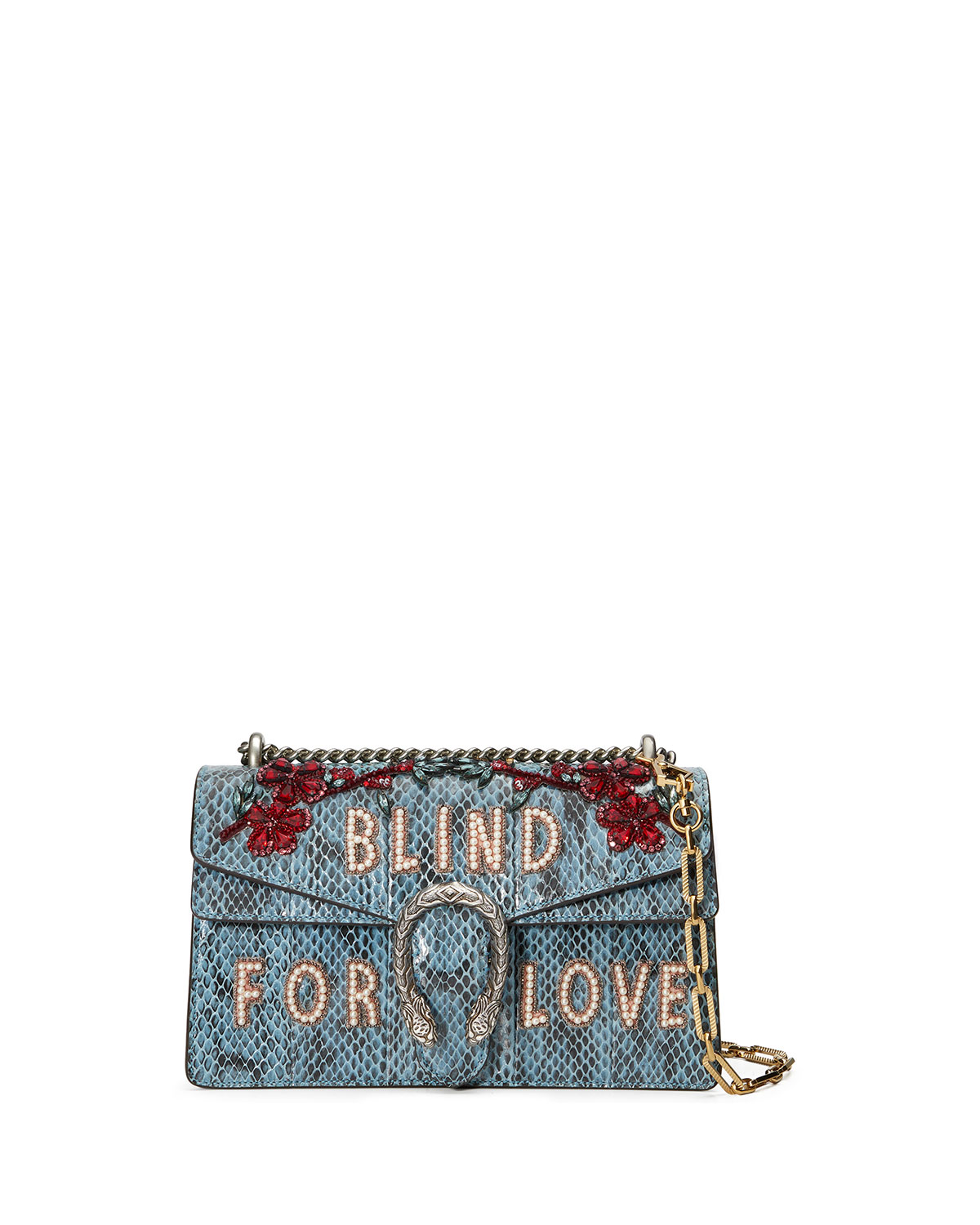1143737f44d8dd Gucci Dionysus Small Blind For Love Shoulder Bag, Marine Blue ...
