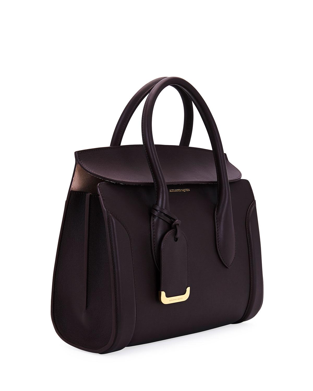 870057c6129b4 Alexander McQueen Heroine 30 Small Sweet Calf Leather Tote Bag | Neiman  Marcus