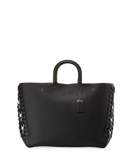 Coach 1941 Rogue Colorblock Linked Tote Bag, Black/White