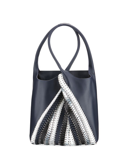 Paco Rabanne 1401 Pliage Chain-Link Tote Bag, Blue