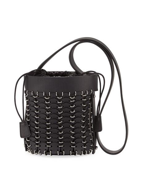 Paco Rabanne 14#01 Chain-Link Mini Bucket Bag, Black