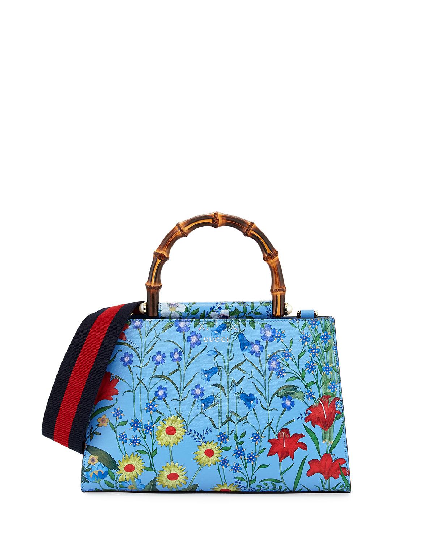 684a4946c2c Gucci Nymphaea Small Flora Top-Handle Bag
