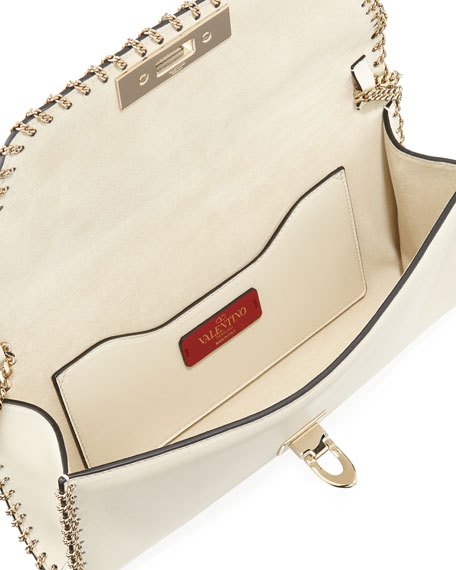 Demilune Vitello Leather Shoulder Bag