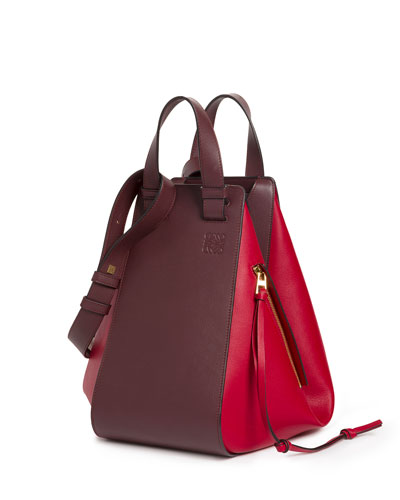 Two-Tone Leather Hammock Bag