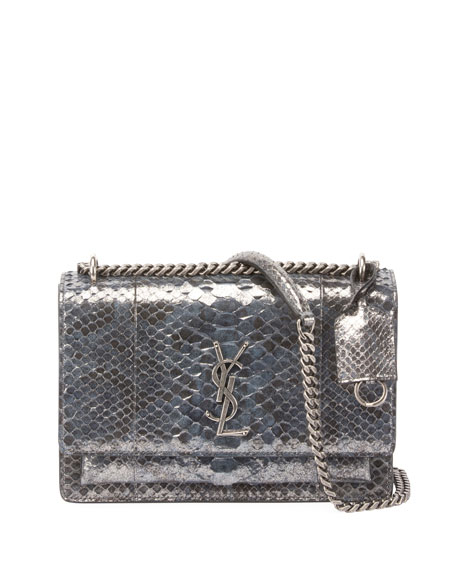 Sunset Medium Python Crossbody Bag