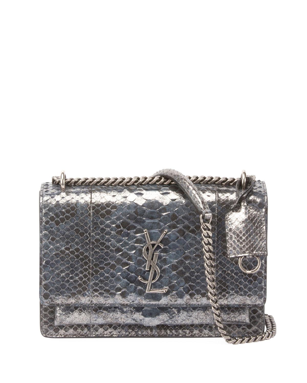 Sunset Medium Python Crossbody Bag