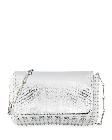 Paco Rabanne 14#01 Classic Link Mini Python Shoulder Bag