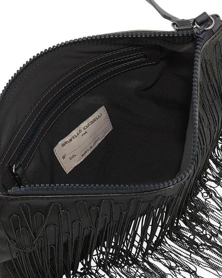 Monili Waterfall Metallic Crossbody Bag
