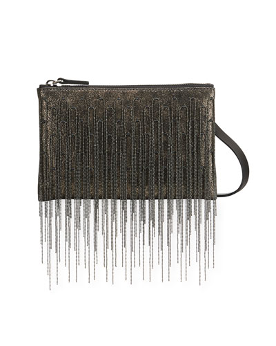 Monili Waterfall Metallic Crossbody Bag