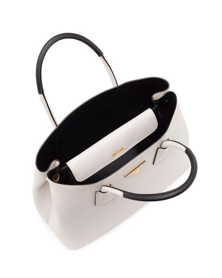 Saffiano Cuir Small Double Bag