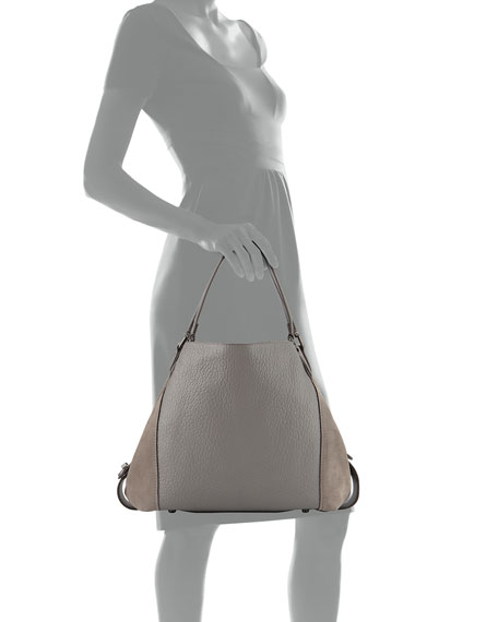 Edie 42 Mixed Leather Handbag