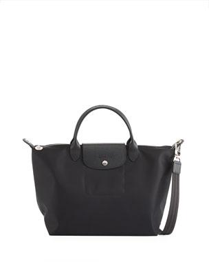 b594ce12873 Longchamp Le Pliage Neo Medium Handbag with Strap