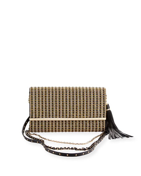 Manhattan Multi-Strap Crystal-Studded Clutch Bag
