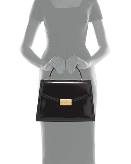 Juliette Patent Top Handle Satchel Bag