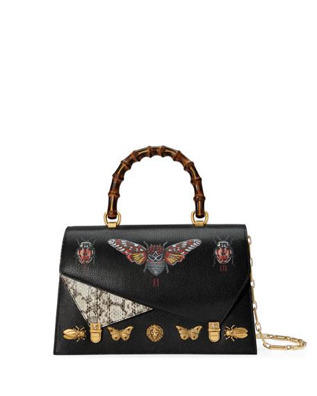 Gucci Ottilia Medium Insect Display Bamboo Top-Handle Bag