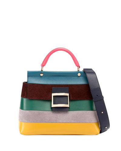 Viv Cabas Small Striped Crossbody Bag
