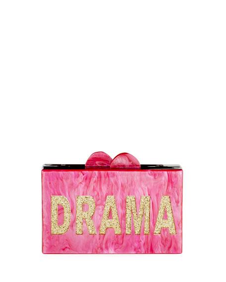 Bari Lynn Girls' Drama/Queen Glittered Acrylic Box Clutch