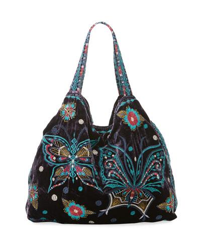 Aurella Velvet Tote Bag