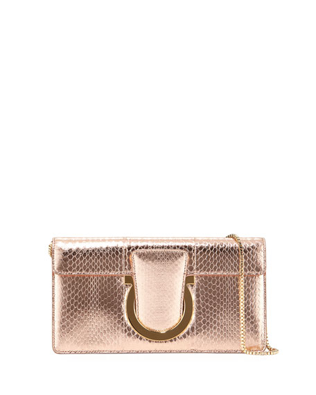 Small Snakeskin Clutch Bag