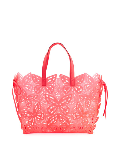 Liara Butterfly Jelly Tote Bag